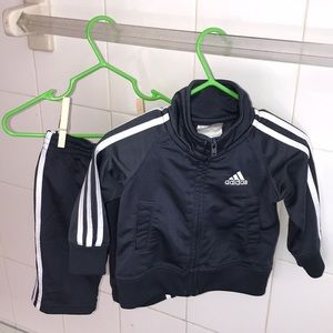 Adidas® Boy's 6 Months Tracksuit Set in Gray
